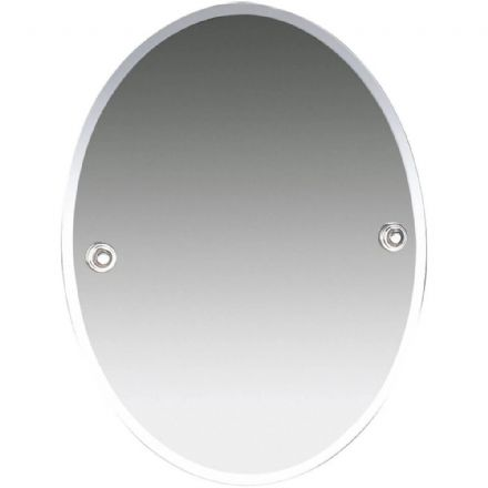 Miller Oslo Nickel Oval Bevelled Mirror